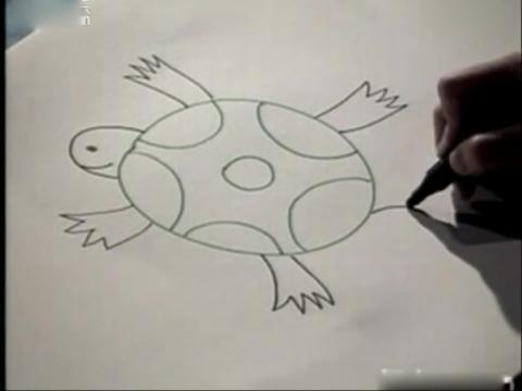 儿童学画简笔画.小乌龟
