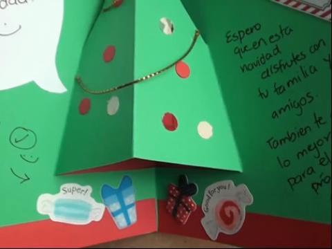 手工制作视频-diy纸质3d圣诞贺卡