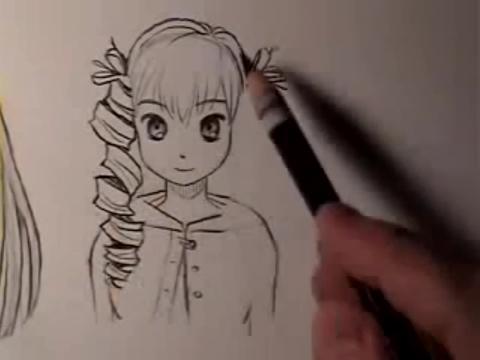 动漫眼睛画法铅笔画