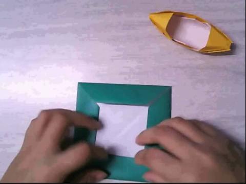 折纸大全◆diy手工折纸舢舨船的做法2