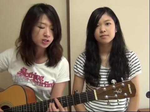 漂亮美女吉他弹唱很给力