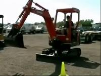 液压遥控四轮玩具挖掘机视频表演【高清】