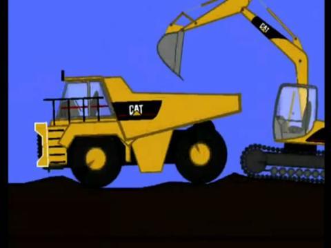 cat动画挖掘机表演视频
