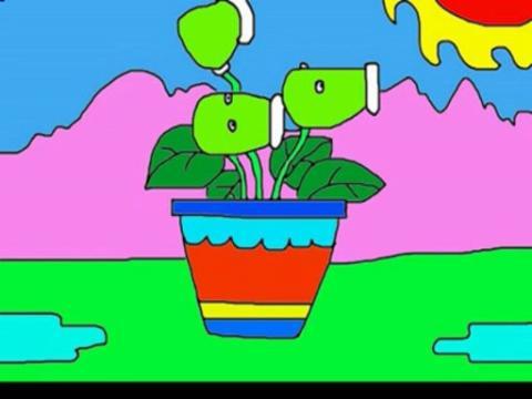 简笔画植物大战僵尸1