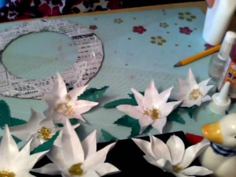 手工制作视频-纸质装饰花环