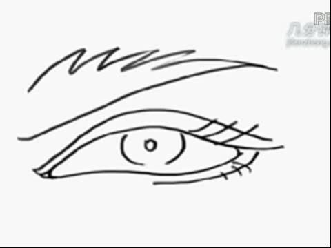 简笔画大全系列 简笔画人物篇之眼睛(二)