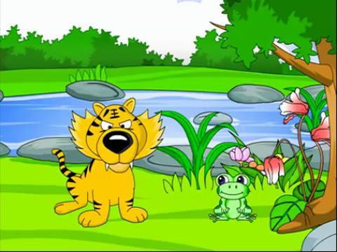 幼儿成长故事系列之老虎和青蛙