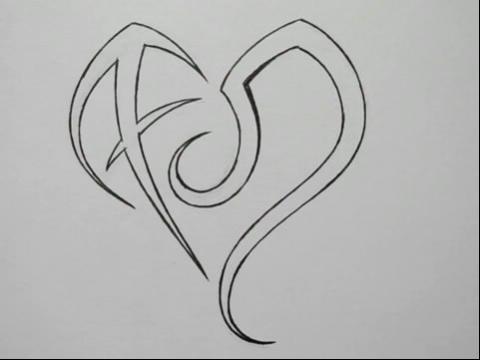 狮子座和人马座心形纹身