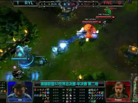 S3全球总决赛 半决赛 皇族 vs FNC 第2场lol官网