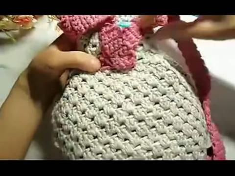 钩针编织包包 宝宝双肩包的钩织方法钩针怎么钩五指手套,包高清图片