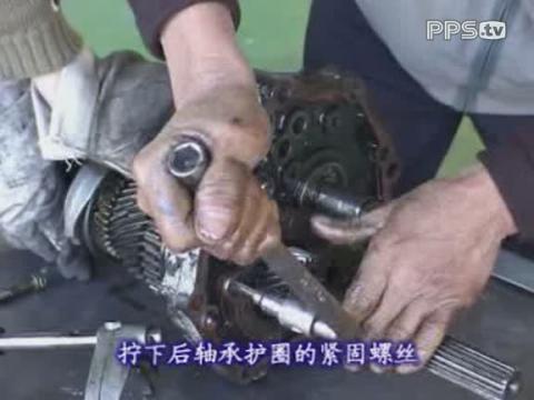 怎么学汽修金杯汽车维修视频_变速箱的分解