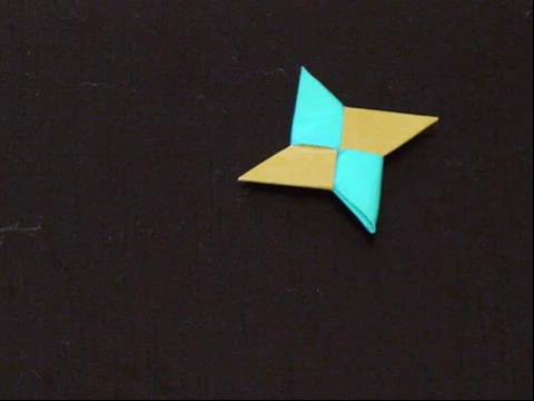 飞镖折纸步骤图解 儿童折纸飞镖图解 折纸八角飞镖