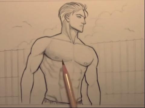 动漫人物画法素描简笔画设计大全55.教你画漫画
