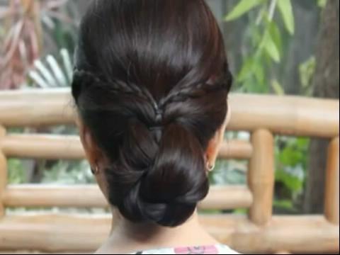 小女孩发型设计步骤展示