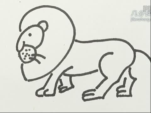 简笔画之如何画狮子(2)
