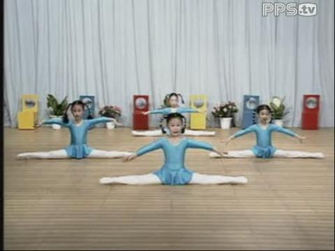 《幼儿舞蹈基础训练》a49(压腿组合)分解动作