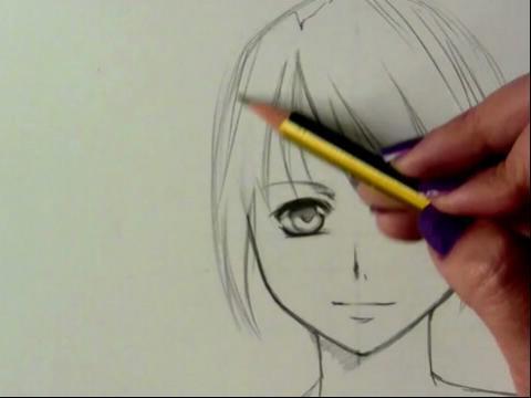 我想画动漫女孩 容易画动漫少女图片 画动漫人物的 ...