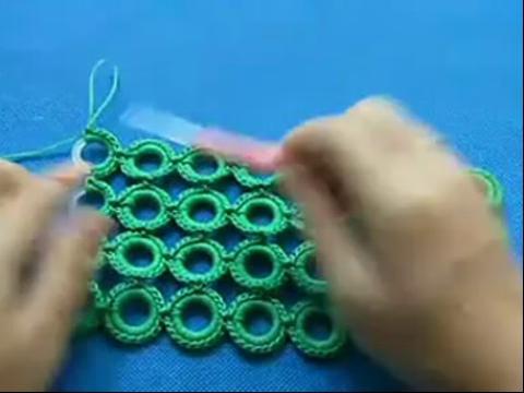 钩针编织圈圈包包 编织视频 钩针钩包包教学 红太郎手工编高清图片