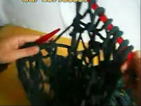 毛线编织大渔网针,织法