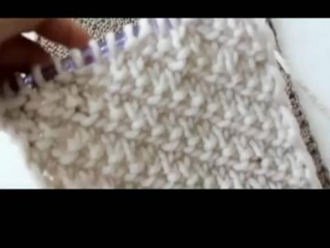 design 双元宝针围巾起针图片 双元宝针围巾起针照片 双  织围巾的