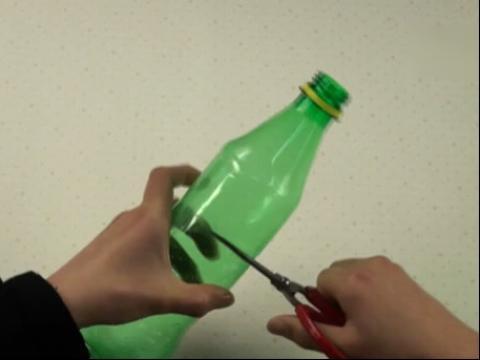 废物利用手工制作diy 塑料瓶变身艺术花瓶