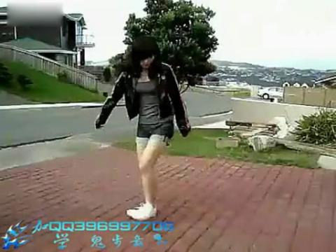 给力高手美女鬼步舞 教学视频