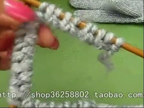 毛线袜子编织视频 地板袜的编织方法