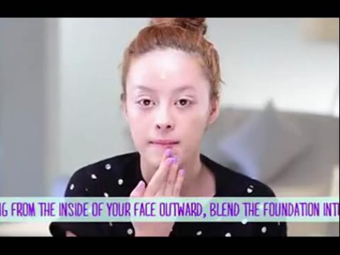 华裔美女彩妆化妆视频教程11