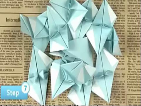 手工制作大全 折纸 海洋之星花球