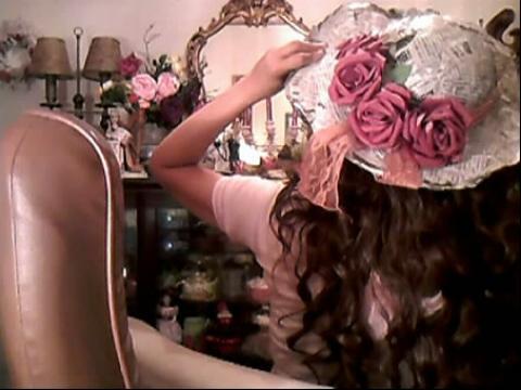 手工制作视频-报纸制作淑女帽子