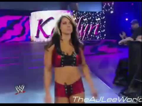 wwe女子摔跤 aj李 vs 凯特琳wwe美国职业摔角