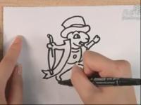 简笔画大全系列 简笔画之如何画戴帽子的动物