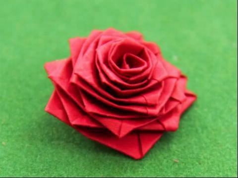 折纸大全06:33 折纸教程-玫瑰花折法