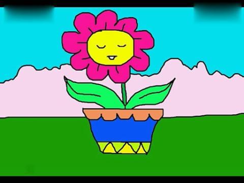 简笔画教程 小花盆的画法