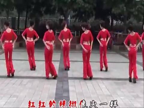 美女广场舞-红月亮