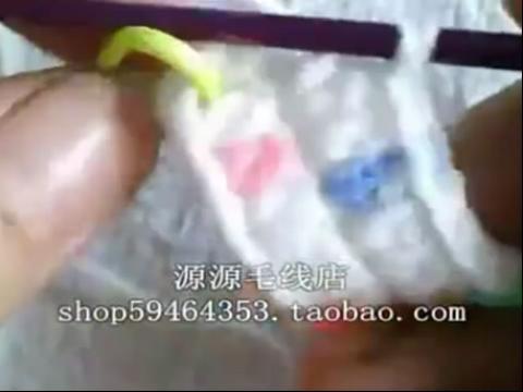婴儿宝宝鞋的钩法 毛线编织宝宝鞋