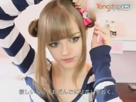 小女孩扎头发的方法视频
