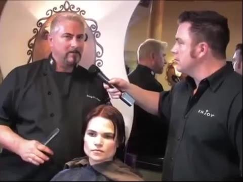 日本美女剪长发视频 美女长发剪短发