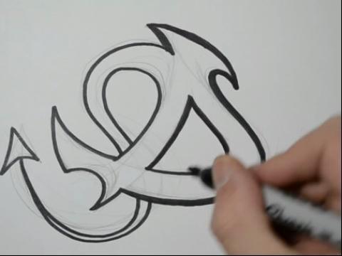 学画纹身大写字母d how图片