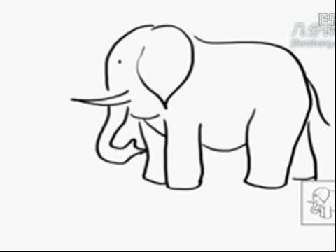 长鼻子动物大象毛绒公仔