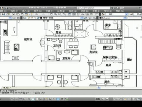 cad建筑水暖电 绘制一层采暖平面图2