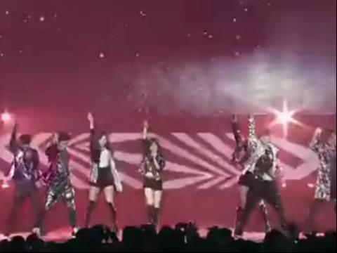 少女时代exo合作舞台 高清