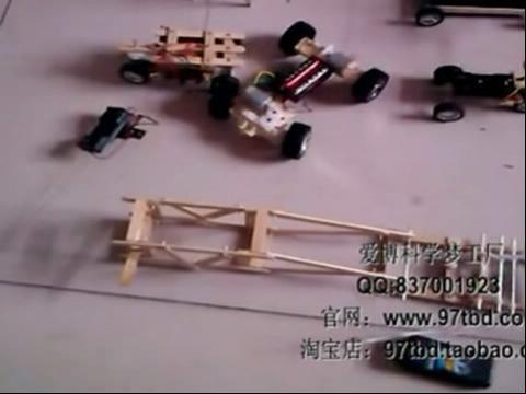 科技小制作小发明电动四轮无线遥控车【教学视频】