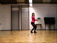 韩国性感短裤美女室内热舞自拍