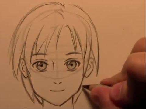 动漫人物画法素描简笔画设计大全45.教你画漫画