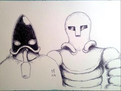 手绘外星人