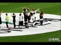 水原足球友谊赛 exo