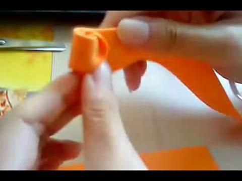 折纸视频教程用海绵纸折玫瑰