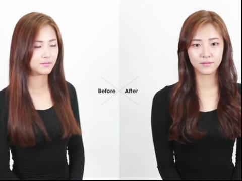 教你韩式女生日常扎头发绑发扎发视频教程