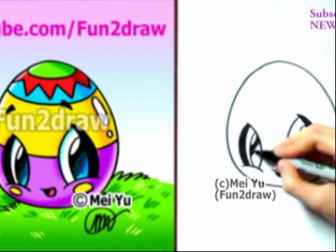 diy手绘画教程:如何画卡通彩蛋